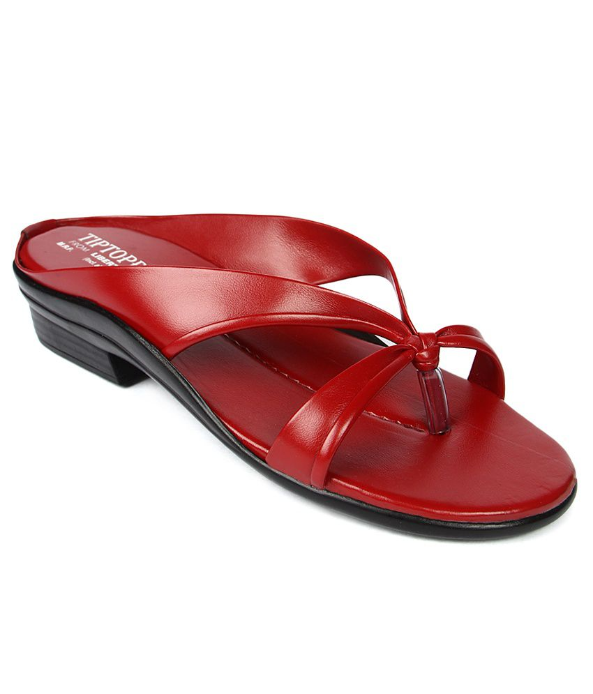 Tiptopp Maroon Slippers