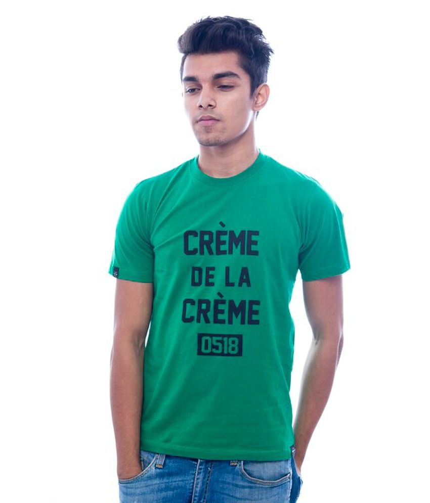 Urbanflux Green Cotton T Shirt