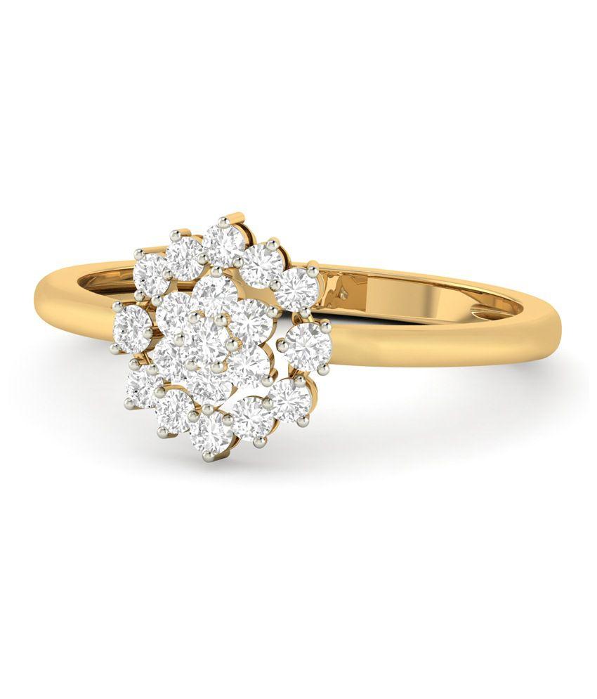 WearYourShine PC Jeweller 18KT Gold The Maxima Diamond Ring