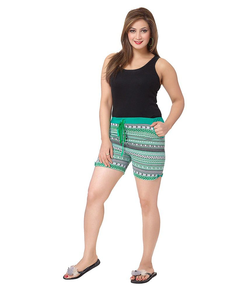KuuKee Green Others Shorts