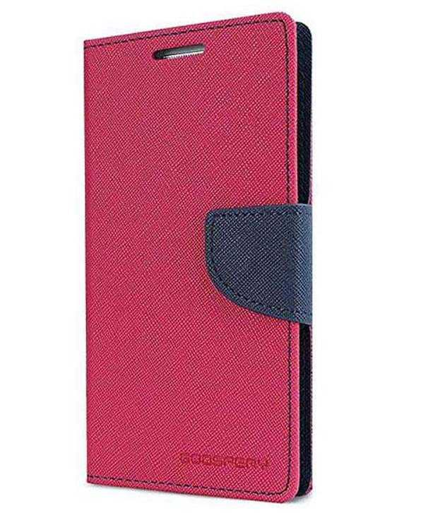 Uni Mobile Care Flip Wallet Cover For Samsung Galaxy Star Pro S7262 S7260 - Pink