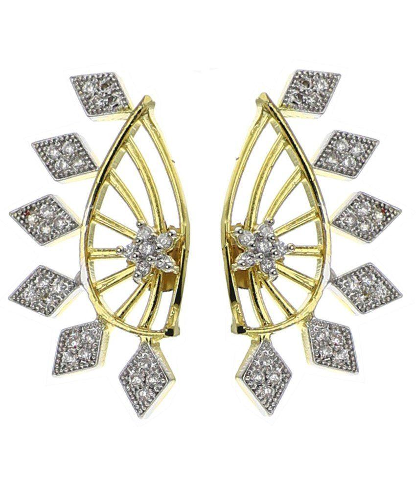 YouBella Designer American Diamond Earcuff Earring