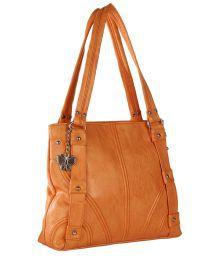 Butterflies BNS0460 Orange Shoulder Bag