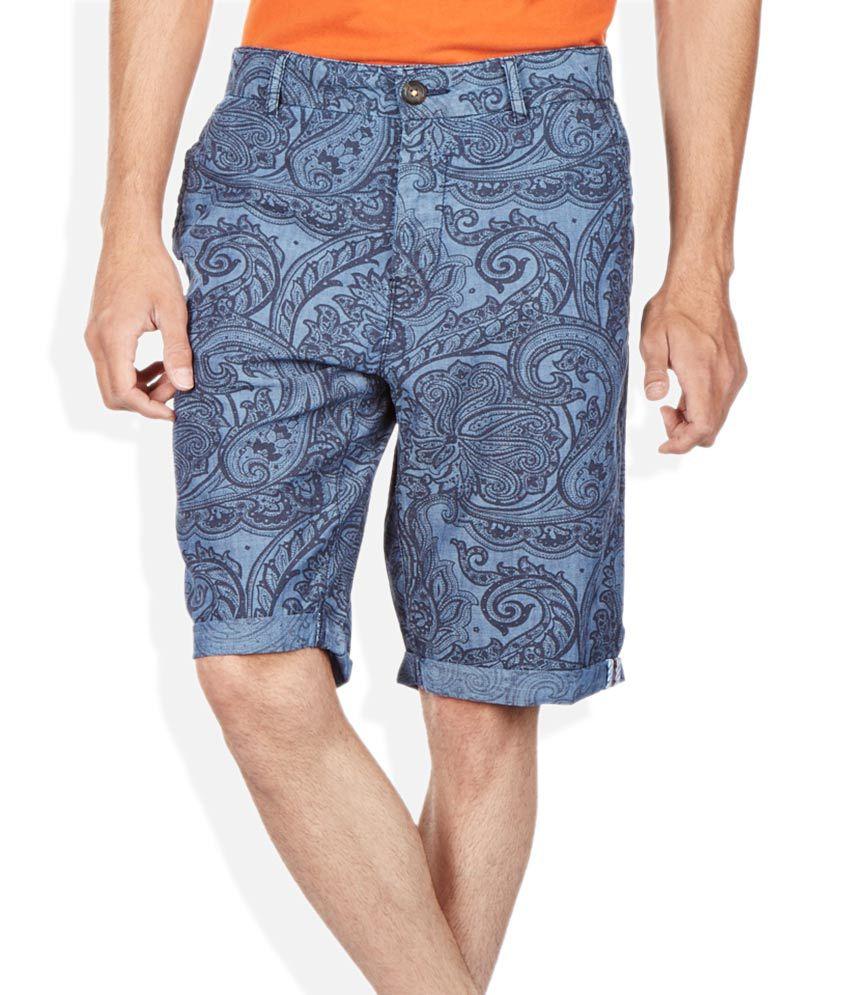 Breakbounce Blue Slim Fit Shorts