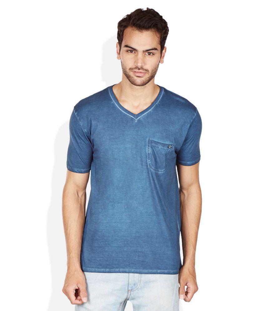 Breakbounce Blue V-Neck T Shirt