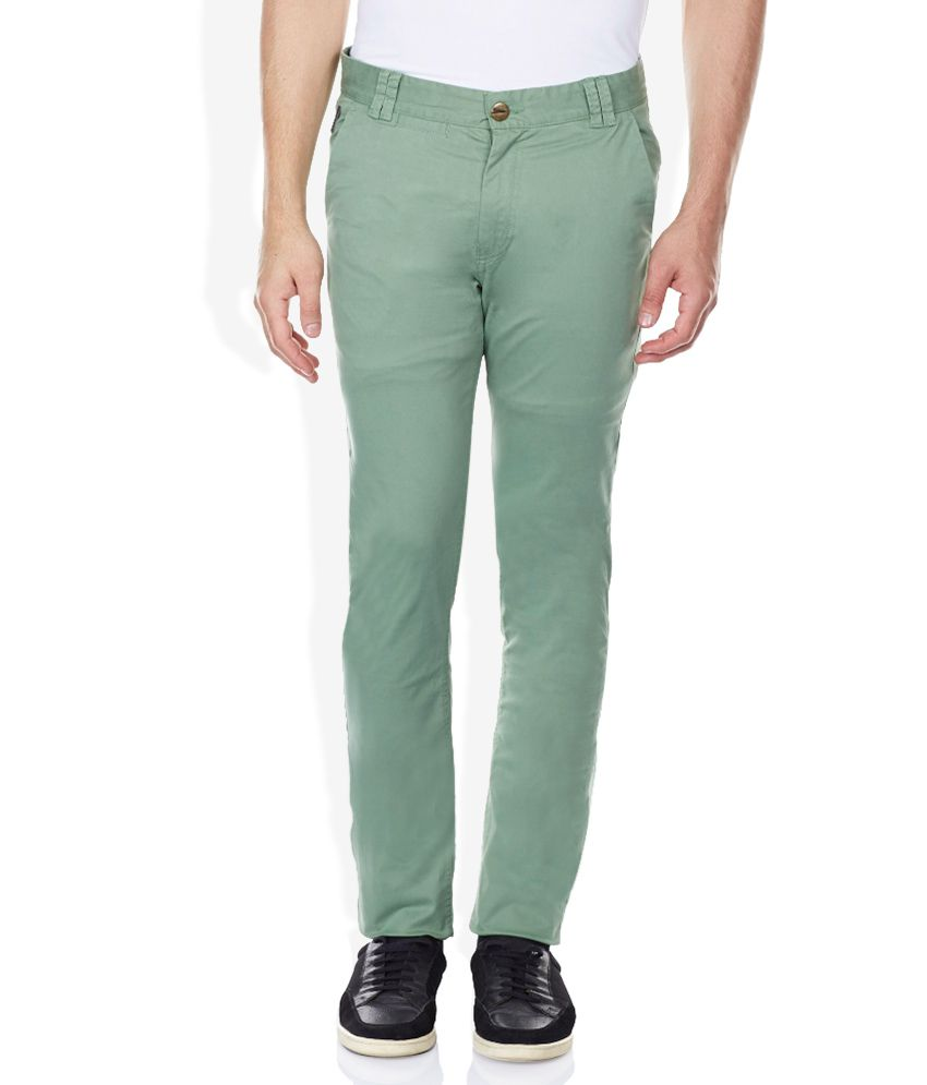Breakbounce Green Slim Fit Trousers