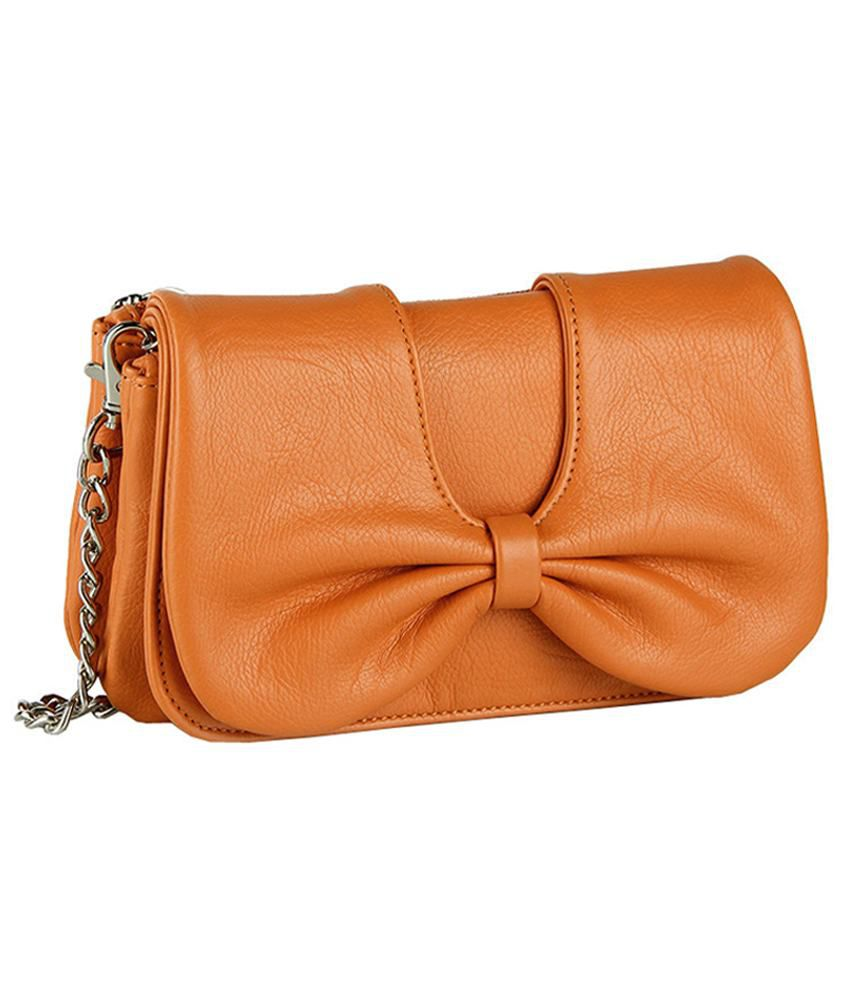Butterflies Orange P.U. Sling Bag - Buy Butterflies Orange P.U. ...