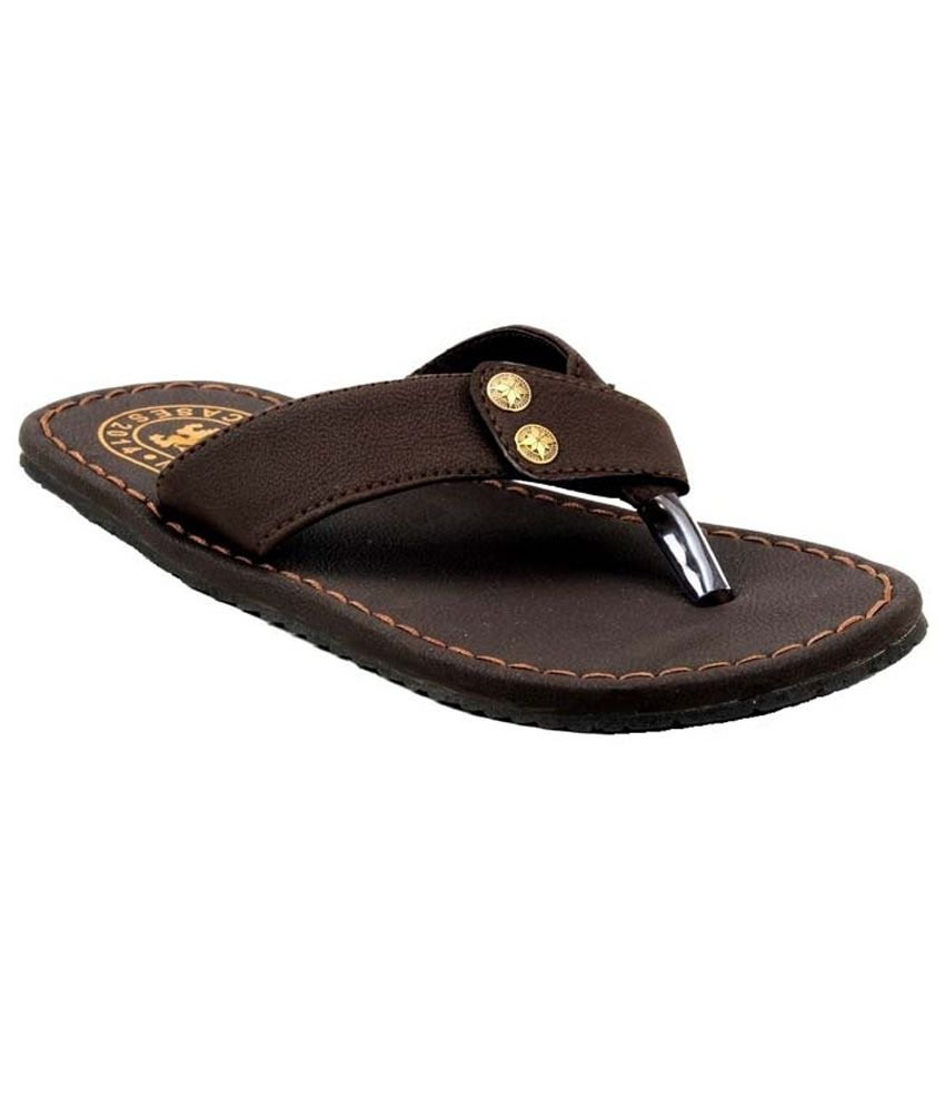 1e2c8401b5475e Guardian Brown Leather Casual Slippers For Men Price in India- Buy Guardian  Brown Leather Casual Slippers For Men Online at Snapdeal