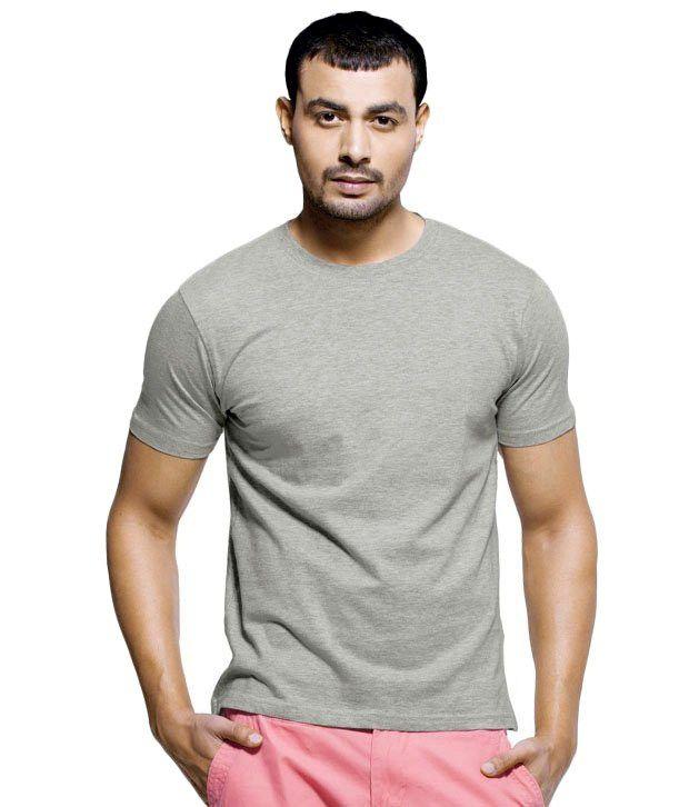 Maclavaro Gray Cotton Half Sleeve T-Shirt - Pack Of 2