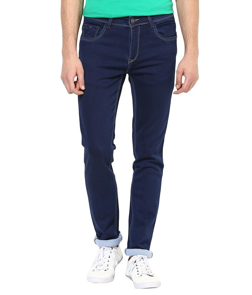 Richlook Smart Blue Cotton Faded Slim Fit Jeans