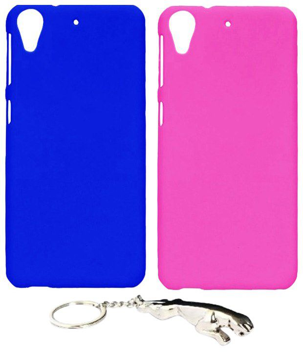 Winsome Deal Fabulous Multicolour Combo of Keychain & 2 HTC Desire 626 Back Covers