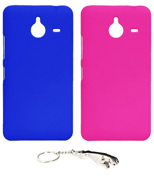 Winsome Deal Multicolour Combo of Keychain & 2 Nokia Lumia 640 XL Back Covers