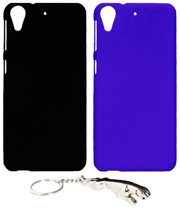 Winsome Deal Well Designed Multicolour Combo of Keychain & 2 HTC Desire 626 Back Covers