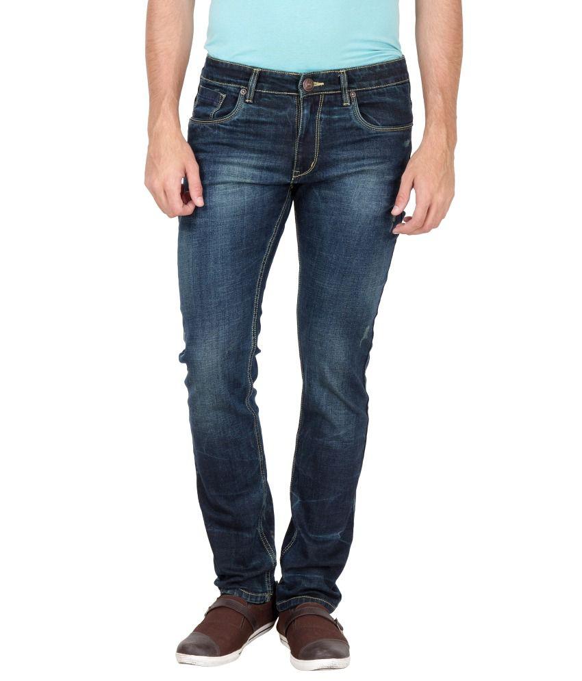 Jogur Navy Cotton Blend Jeans