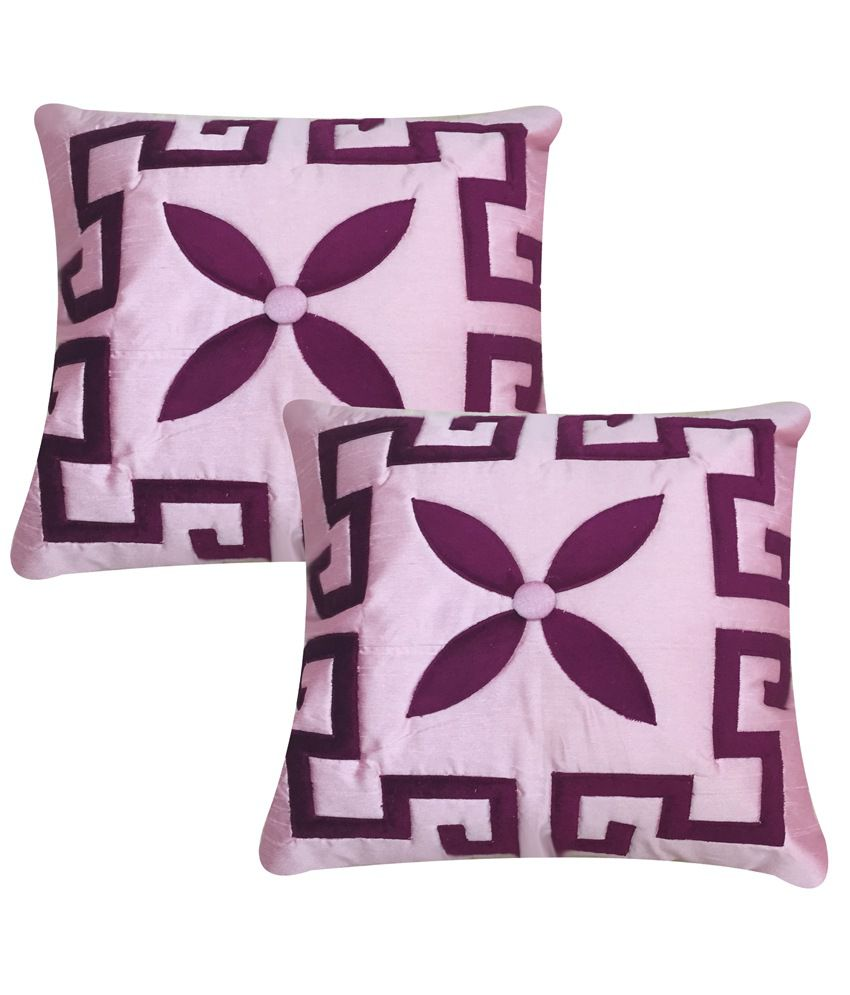 William Pink Floral Design Cushion Cover Set of 2