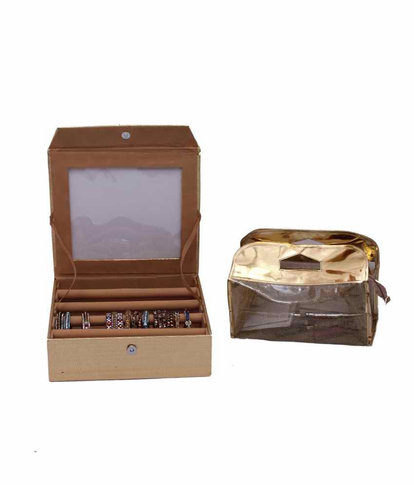 Kuber Industries Bangle Four Roll & Vanity Box