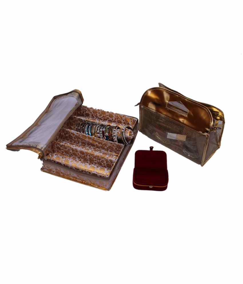 Kuber Industries Bangle Four Roll & Vanity & Ring Box