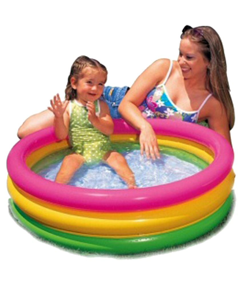 Little Grin Multicolor Inflatable Baby Child Swimming pool Water Tub ...