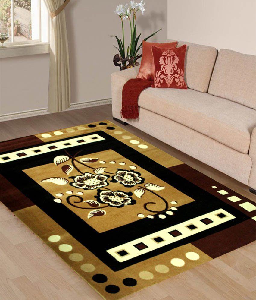 Vugis Multicolor Polypropylene Embroidery Carpet