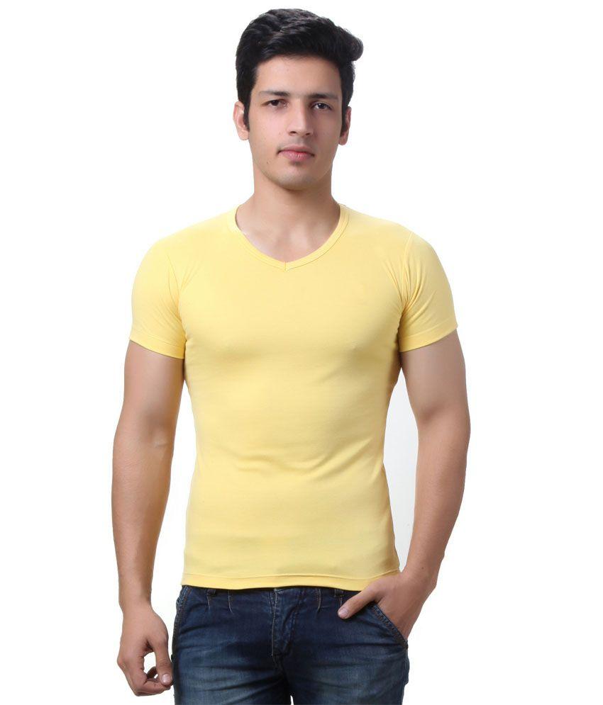 Aay Ess Silk Mills P Ltd Green Cotton Round T Shirt