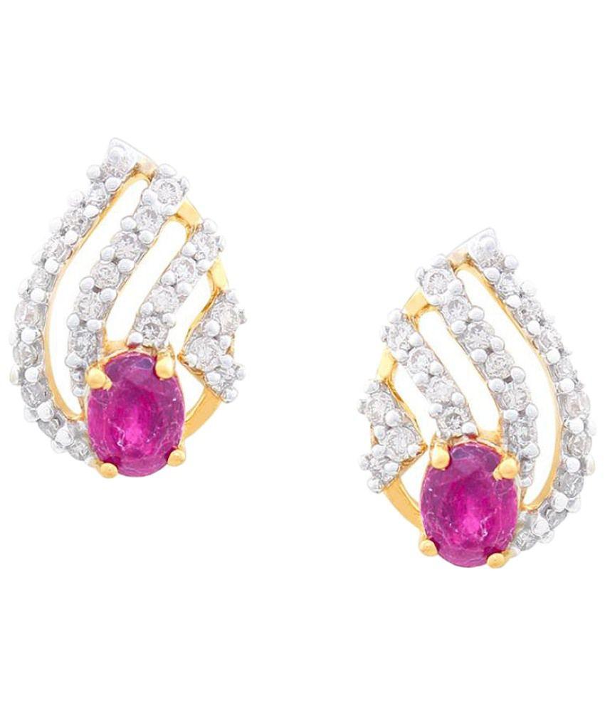 Gili 18Kt Gold & 0.21 Ct Diamond Stud Earrings