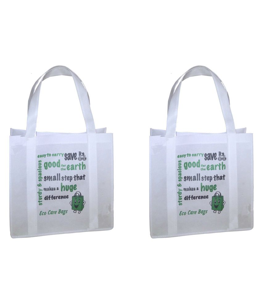Jayco Non Woven Bags White Shopping Bags - Pack Of 27