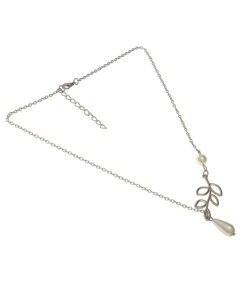Jewel Touch Silver Contemporary Alloy Necklace
