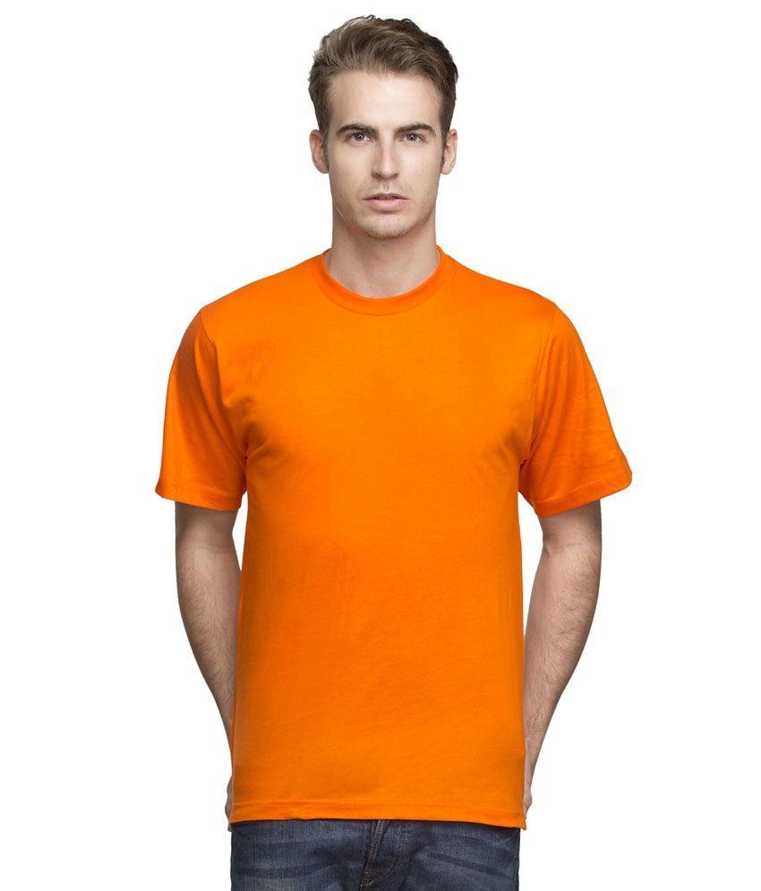 Tanishq Collection Orange Cotton T Shirt