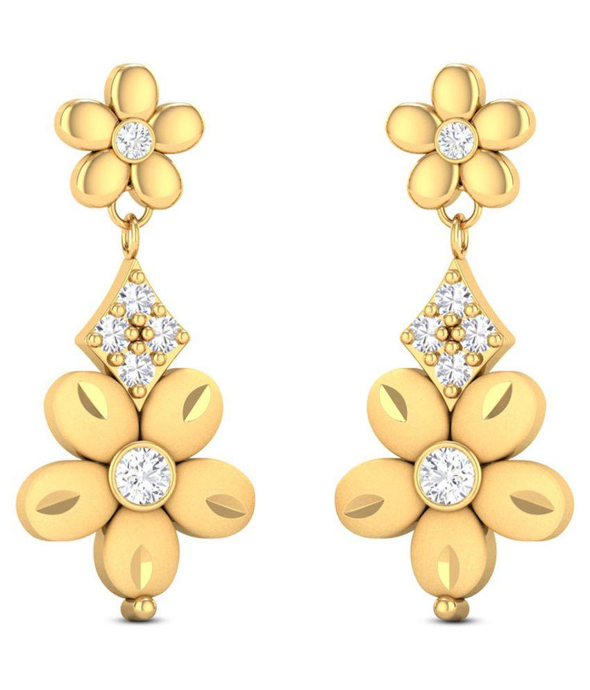 3f638939cd028 Zaamor Diamonds 22Kt Gold Drop Earrings