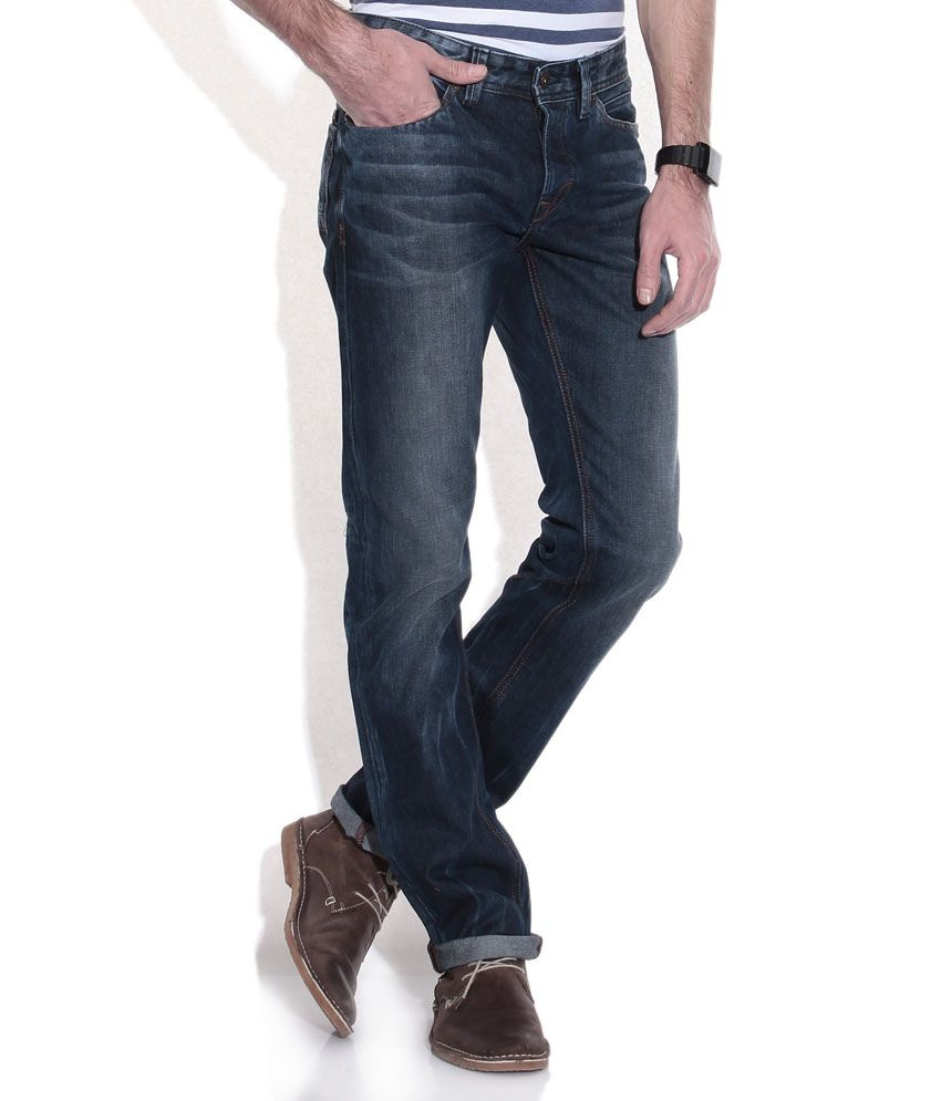 Celio Blue Straight Fit Jeans