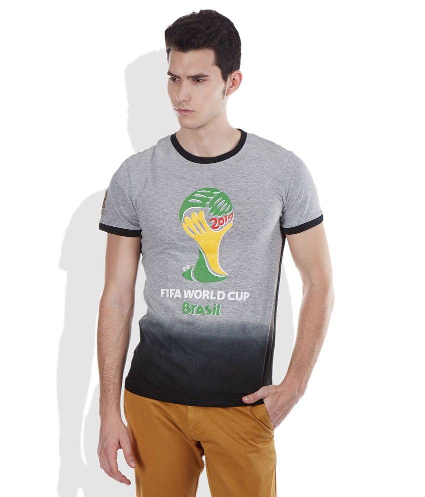 Celio Gray Round Neck T Shirt