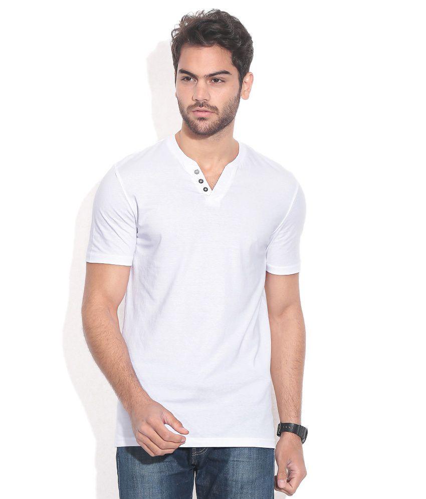 Celio White Cotton T-shirt