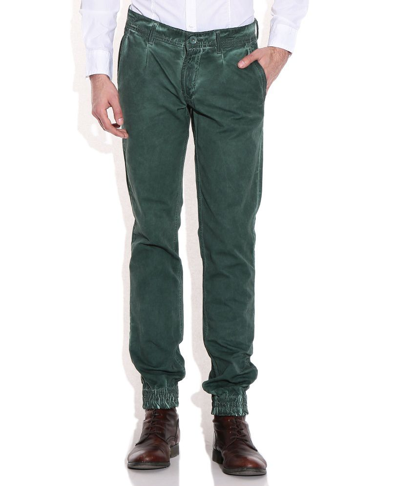 John Players Green Slim Casuals