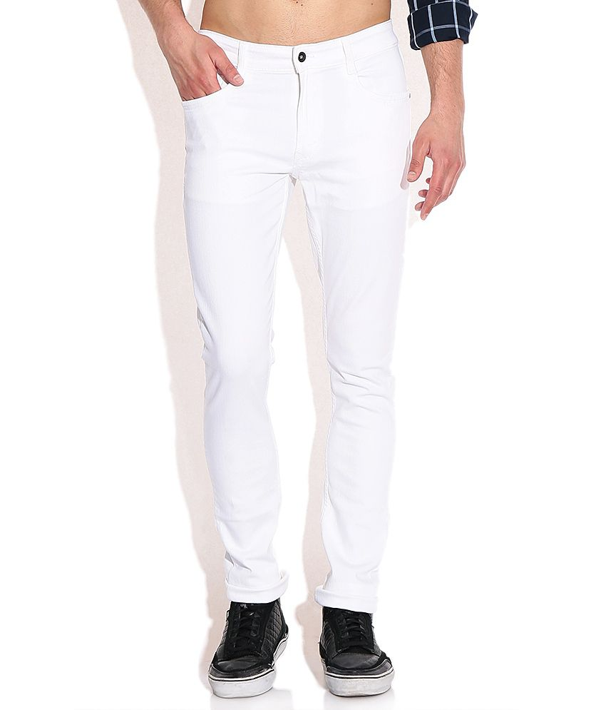 John Players White Super Skinny Fit Jeans