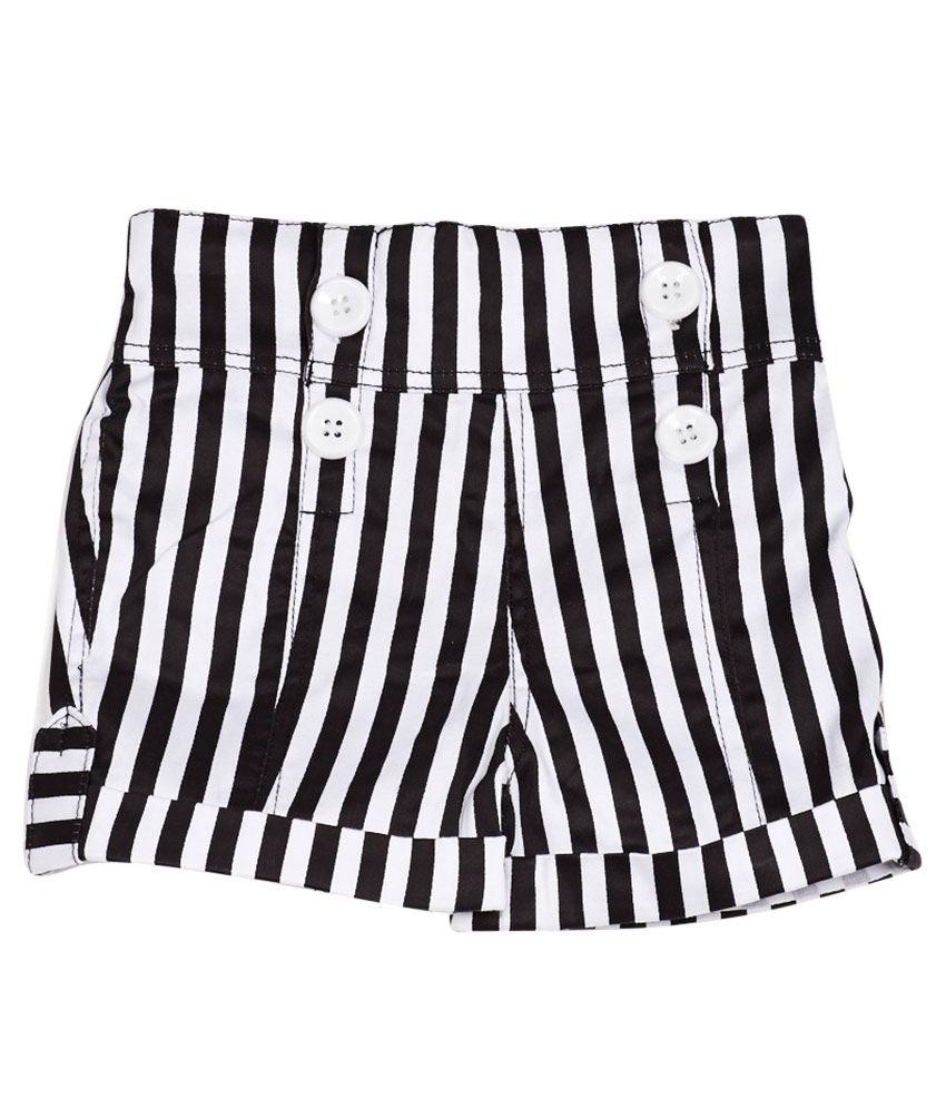 Little Kangaroos Black Cotton Blend Shorts