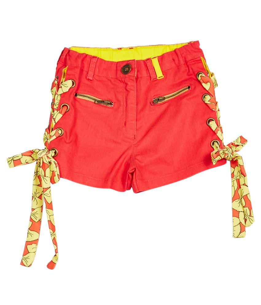 Little Kangaroos Coral Cotton Blend Shorts
