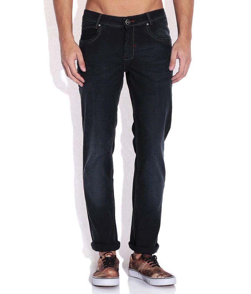 Mufti Black Skinny Fit Jeans