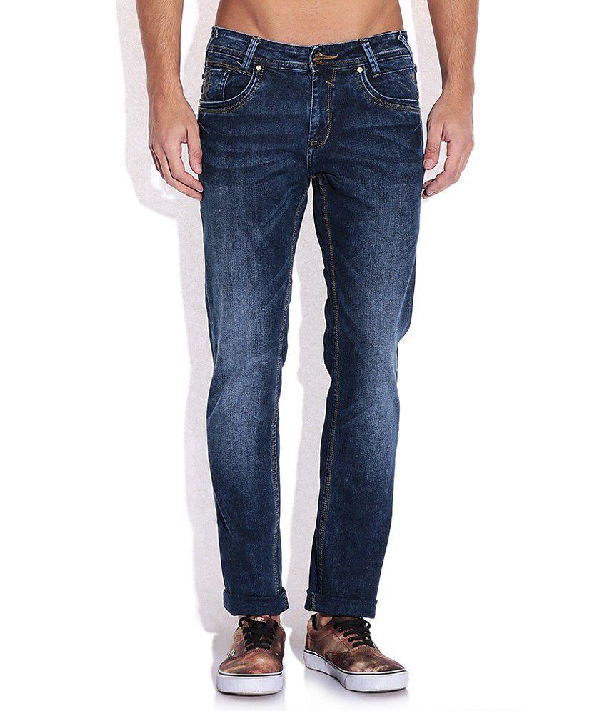 Mufti Blue Skinny Fit Jeans