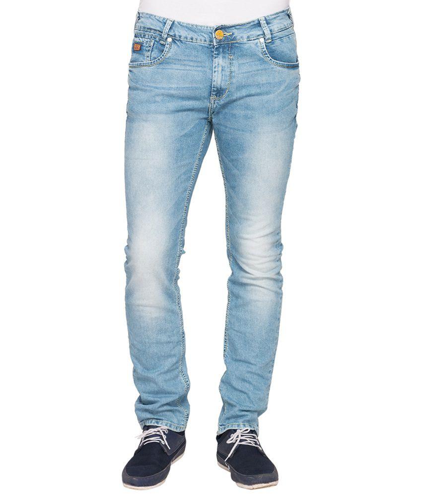 Mufti Blue Super Skinny Fit Jeans