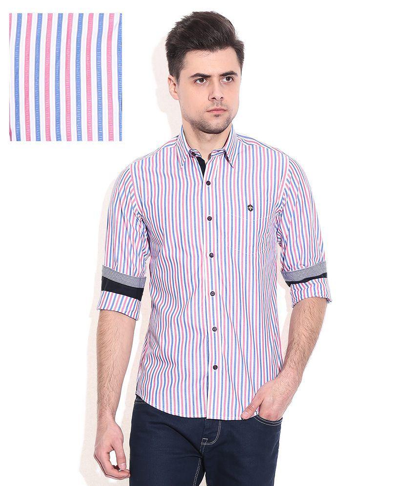 mufti multi slim fit casual shirt