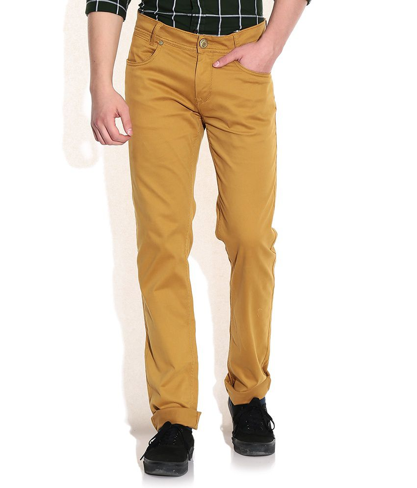 Mufti Tan Tapered Fit Jeans