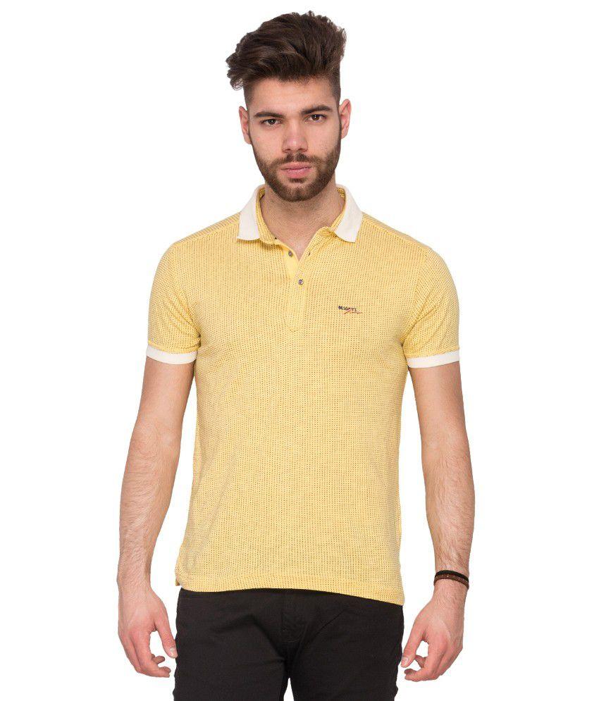 Mufti Yellow Polo Neck T Shirt Buy Mufti Yellow Polo