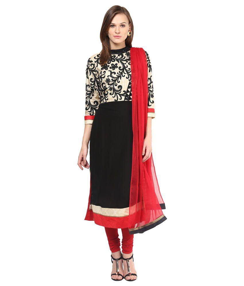 Saanvi Black Others Stitched Suit