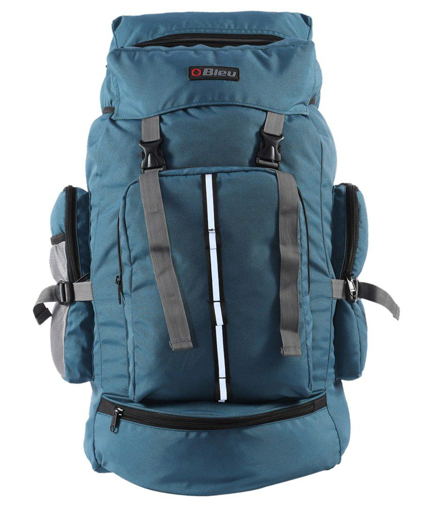 Bleu Backpack Travel Bag Hiking Trekking Rucksack For Outdoor Trendy Blue