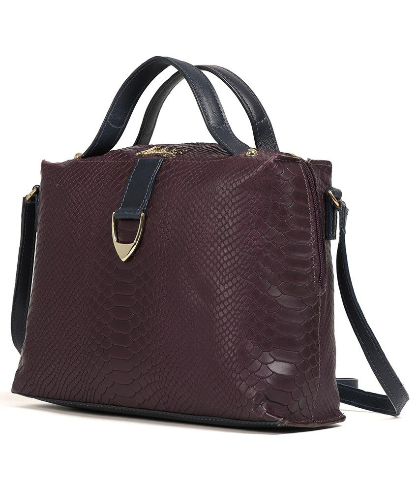 Hidesign Moroso 01 Aubergine Leather Sling Bag