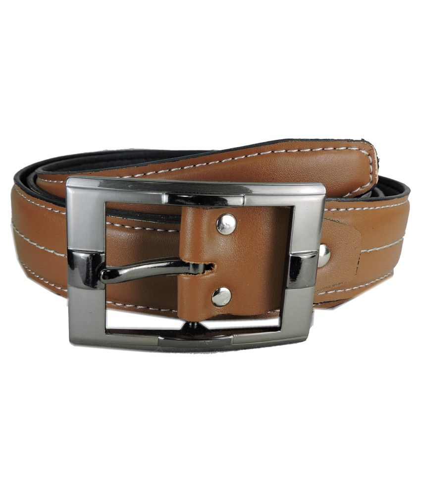 Opaque Tan Pin Buckle Casual Belt