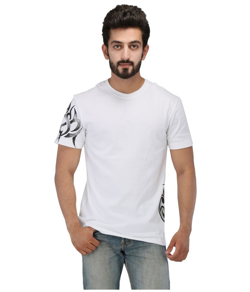 Rang Rage White Cotton T Shirt