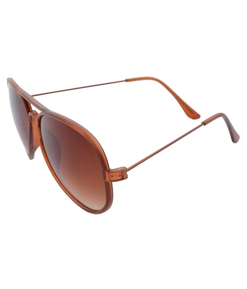 Xlnc Brown Aviator Sunglasses