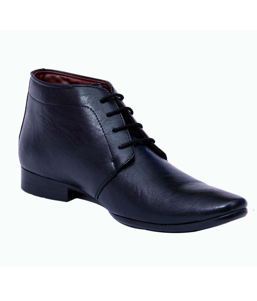 Bata Black Synthetic Leather Boots