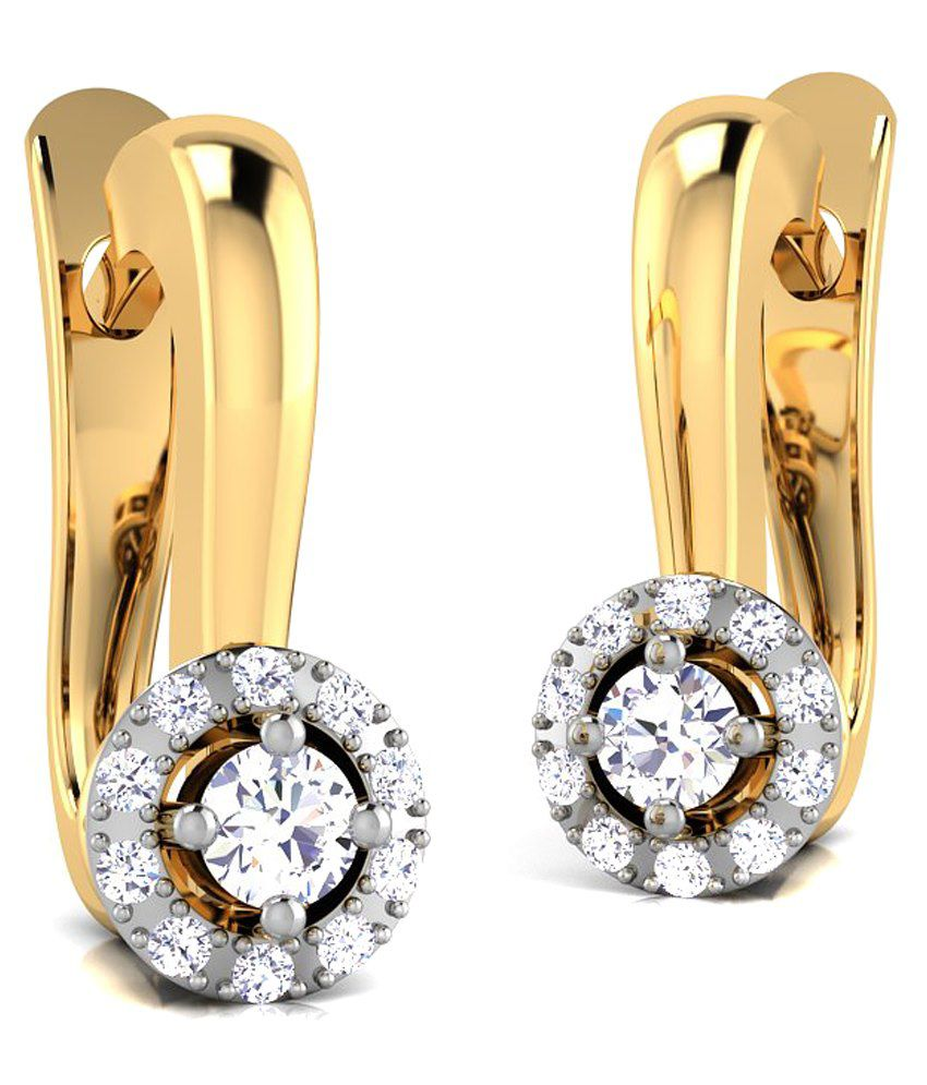Caratstyle 18Kt Halo Leverback Earring